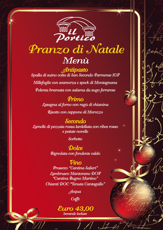 Cena Di Natale Menu Tradizionale.Pranzo Di Natale Ristorante Il Portico Cucina Tradizionale E Pizzeria